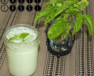 Basil Salt Lassi Recipe / Basil Mor Recipe / Basil Buttermilk Recipe - Summer Refreshing Drink