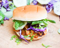 BBQ Jackfruit Burger-vegan