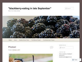 lackberry-eating in late September