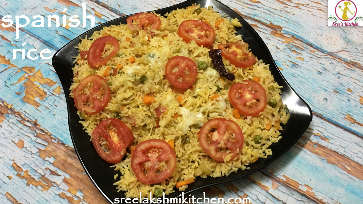 Spanish rice recipe | Sreelakshmikitchen