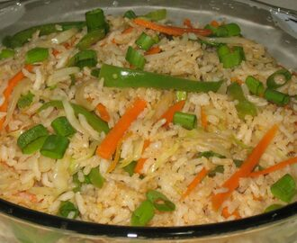 vegetable fried rice recipe, how to make vegetable fried rice recipe