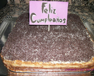 TARTA DE GALLETAS, CHOCOLATE Y CREMA