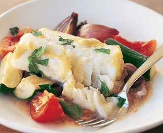 One Pan Mediterranean Fish Bake