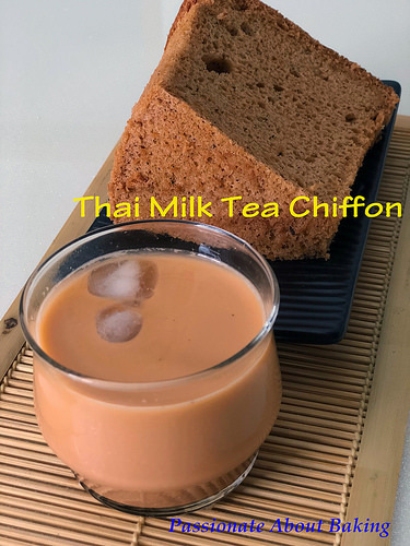 Thai Milk Tea Chiffon Cake