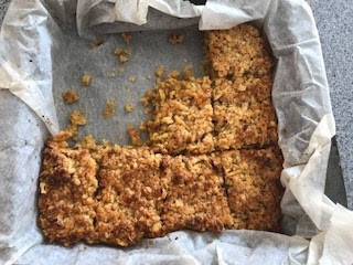 Sticky Ginger and Apple Flapjacks