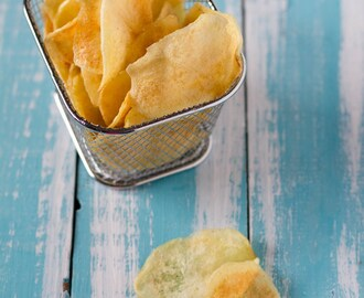 Patate chips fatte in casa, patatine croccanti come quelle in busta!				    	    	    	    	    	    	    	    	    	     	4.83 /5  							(6 )