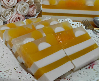 ~~ Fresh Mango & Coconut Milk JellyCake ~~ 鲜芒&椰奶燕菜蛋糕 ~~