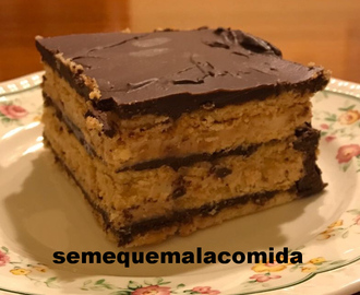 TARTA DE GALLETAS NATILLAS Y CHOCOLATE  (TARTA DE LA ABUELA)