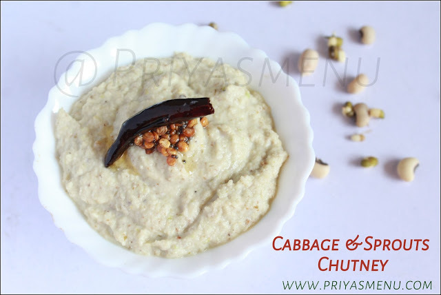 Cabbage & Sprouts Chutney / Chutney Recipe - 85 / #100chutneys