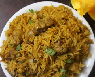 chicken biryani in cooker, easy chicken biryani recipe