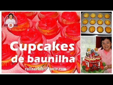 Cupcakes de baunilha  decorado buttercream - Vanilla cupcakes with butte...