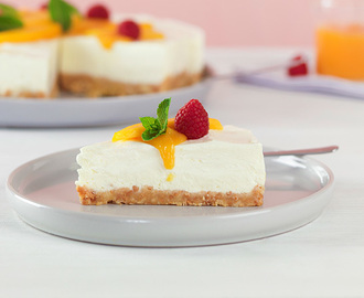 Philadelphia mango & hallon cheesecake