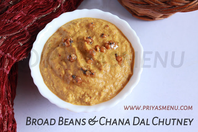 Broad beans & Chana dal Chutney / Chutney Recipe - 96 / #100chutneys