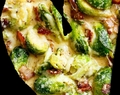 creamy brussels sprouts  with bacon garlic parmesan