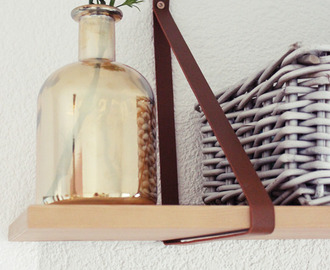 {DIY} Wandregal mit Lederriemenhalter