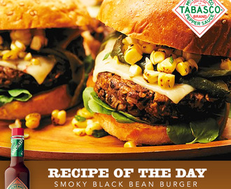 Smoky Black Bean Burger with Corn Relish Recipe