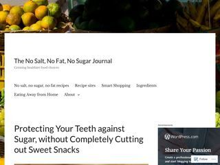 The No Salt, No Fat, No Sugar Journal