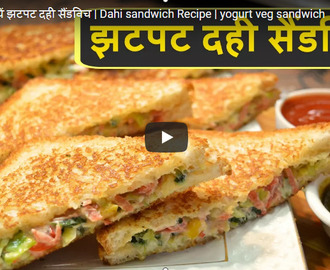 Dahi Sandwich Recipe Video