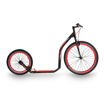 Crussis Sparkcykel Urban 4.3, black/red, Crussis Sparkcykel
