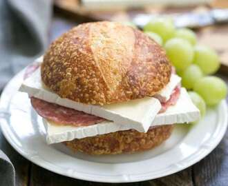 Brie, Jam and Salami Sandwich #SundaySupper