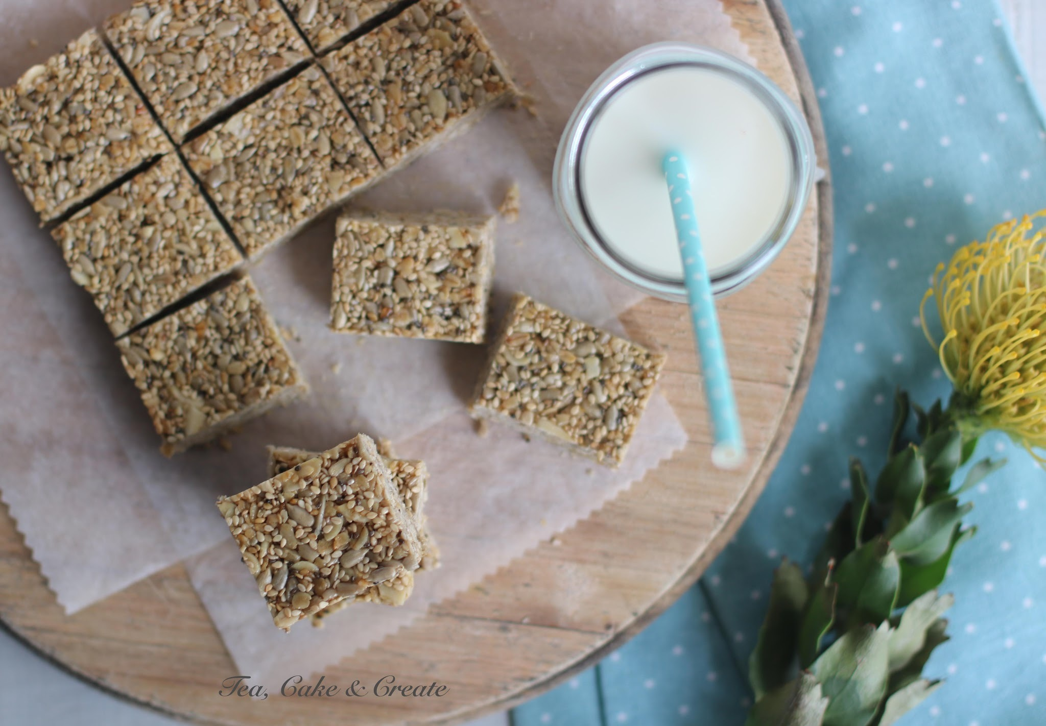 Chewy Sunflower & Sesame Seed Bars