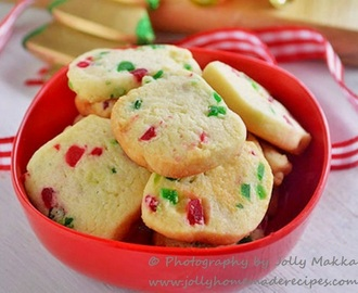 Eggless Tutti Frutti Cookies | Karachi Biscuits Recipe | Fruit Cookies