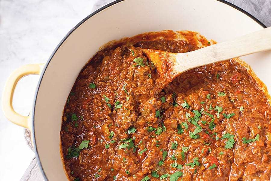 Low Carb Chili Con Carne with Pepperoncini