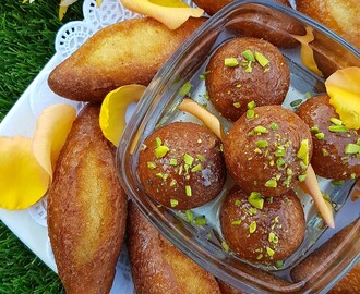 Gulab Jamun (Rose and Cardamom Flavoured Indian Doughnuts)