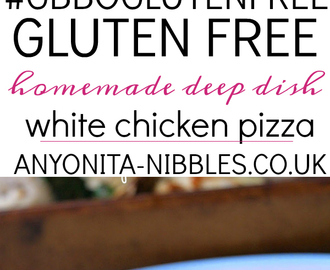 Best Ever Gluten Free Deep Dish White Pizza - #GBBOGlutenFree