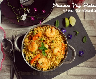 Prawn Veg Pulao | Jhinga pulao | royyala Pulao | Rice Recipes