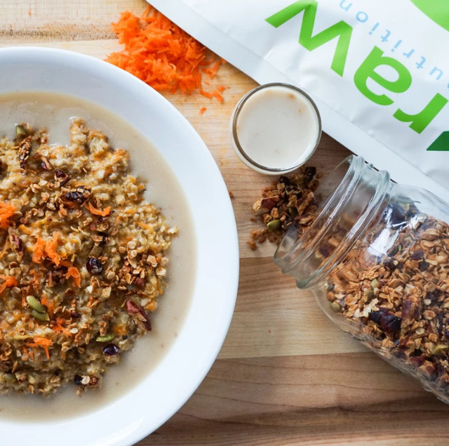 CARROT CAKE HOT CEREAL (HEALTHY + NUTRITIOUS)