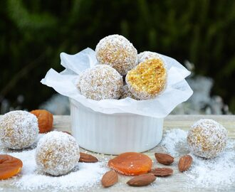 Apricot, coconut and almond bliss balls