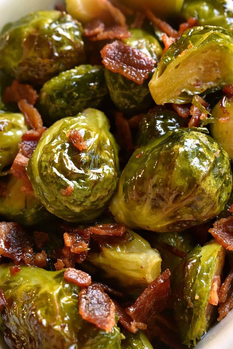 Maple Bacon Roasted Brussels Sprouts