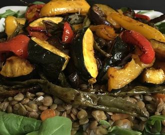 Puy Lentil Salad with Grilled Vegetables