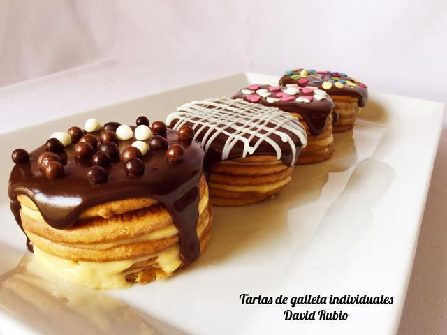 Tartas de galletas individuales