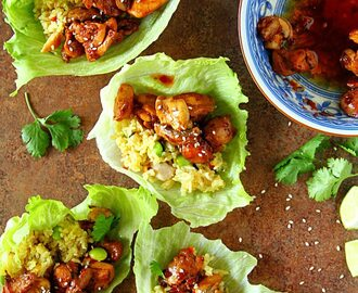 Thai Chicken & Fried Rice Lettuce Wraps