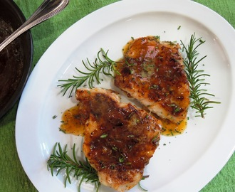 Blackened Grouper with Apricot-Lime Glaze