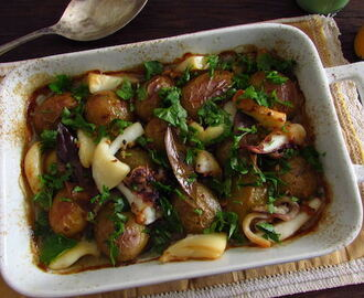 Cuttlefish 'à lagareiro' (cuttlefish with potatoes drizzled with olive oil) | Food From Portugal