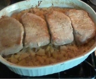 Pork Chops and Sauerkraut (or Schweinekotelette and Sauerkraut)