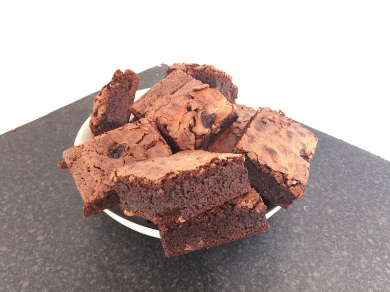 Milk Chocolate and Cherry Brownies