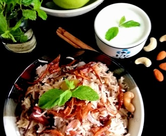 Green Apple Pulao - a great and tasty way to combine Fruit with Basmati Rice!