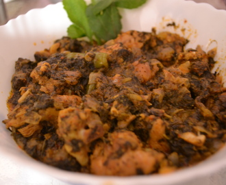 Gongura Chicken ( Roselle Leaves Chicken )