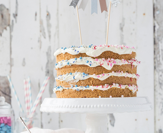 Lemon & Coconut Gender Reveal Cake {Werbung}