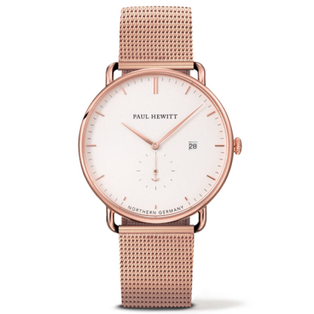 Paul Hewitt Grand Atlantic Line Klocka Rose Gold/White 42 mm