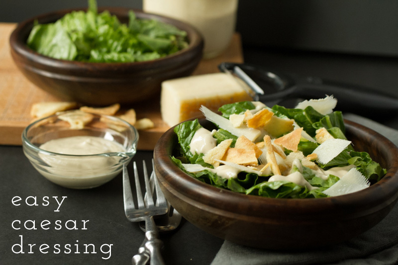 Easy Caesar Dressing (No-Egg Recipe) + Video