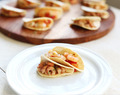 Mini party tacos shrimp canapes
