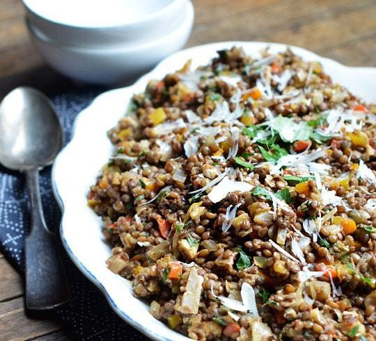 Lunch Recipe: Colorful Lentil Salad with Walnuts & Herbs