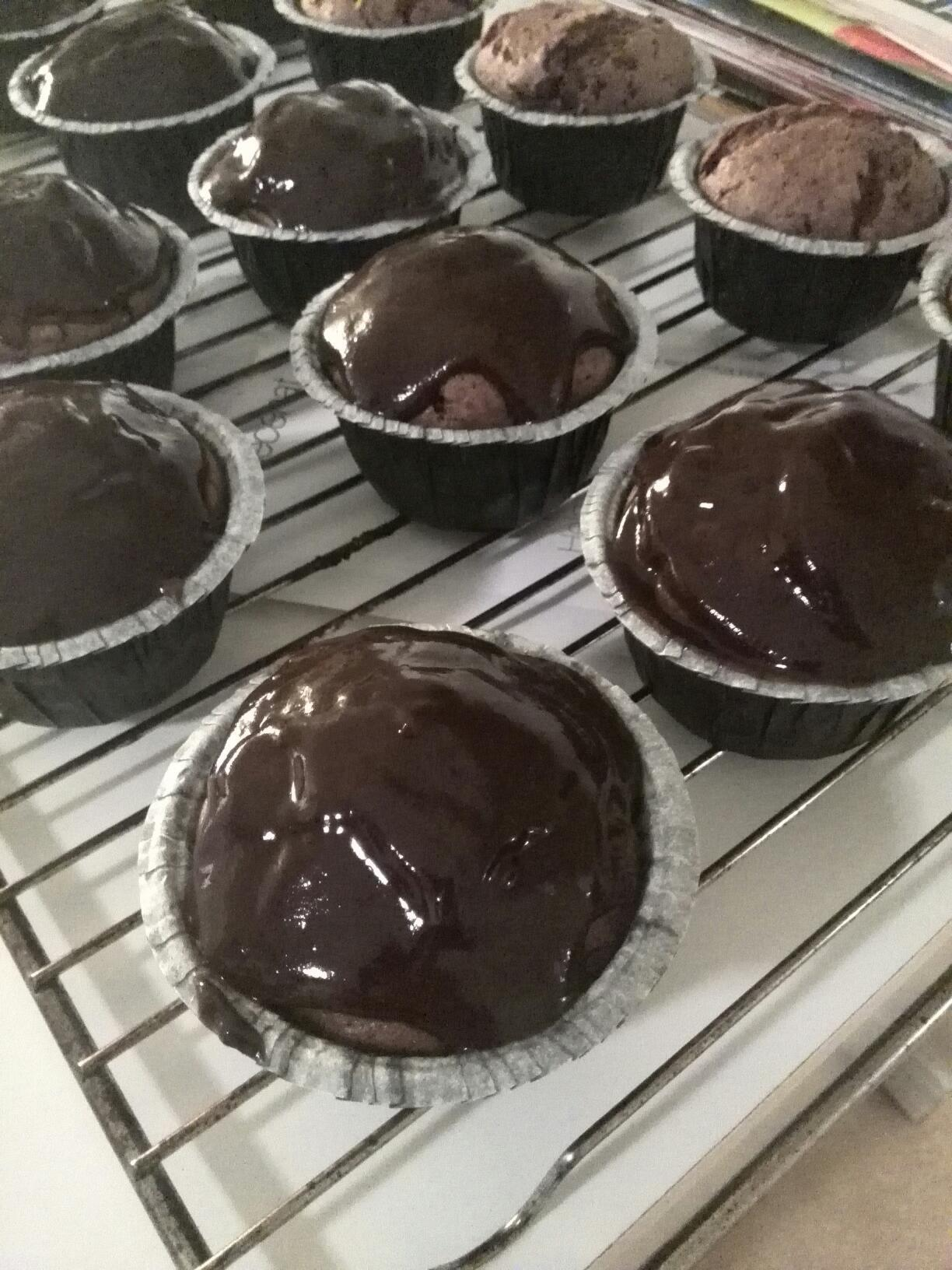 Banana chocolate cupcakes