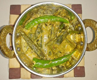 Dahi Bhindi - Okra in Yogurt Gravy