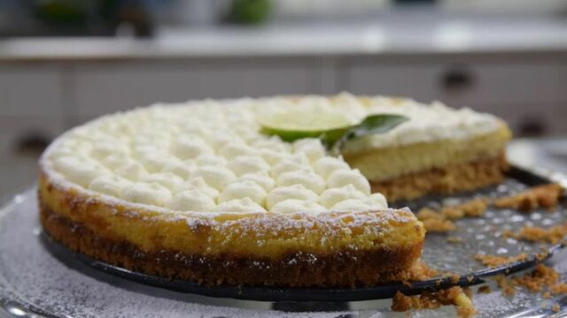 Leftover Key lime pie